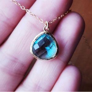 Genuine Aquamarine Necklace